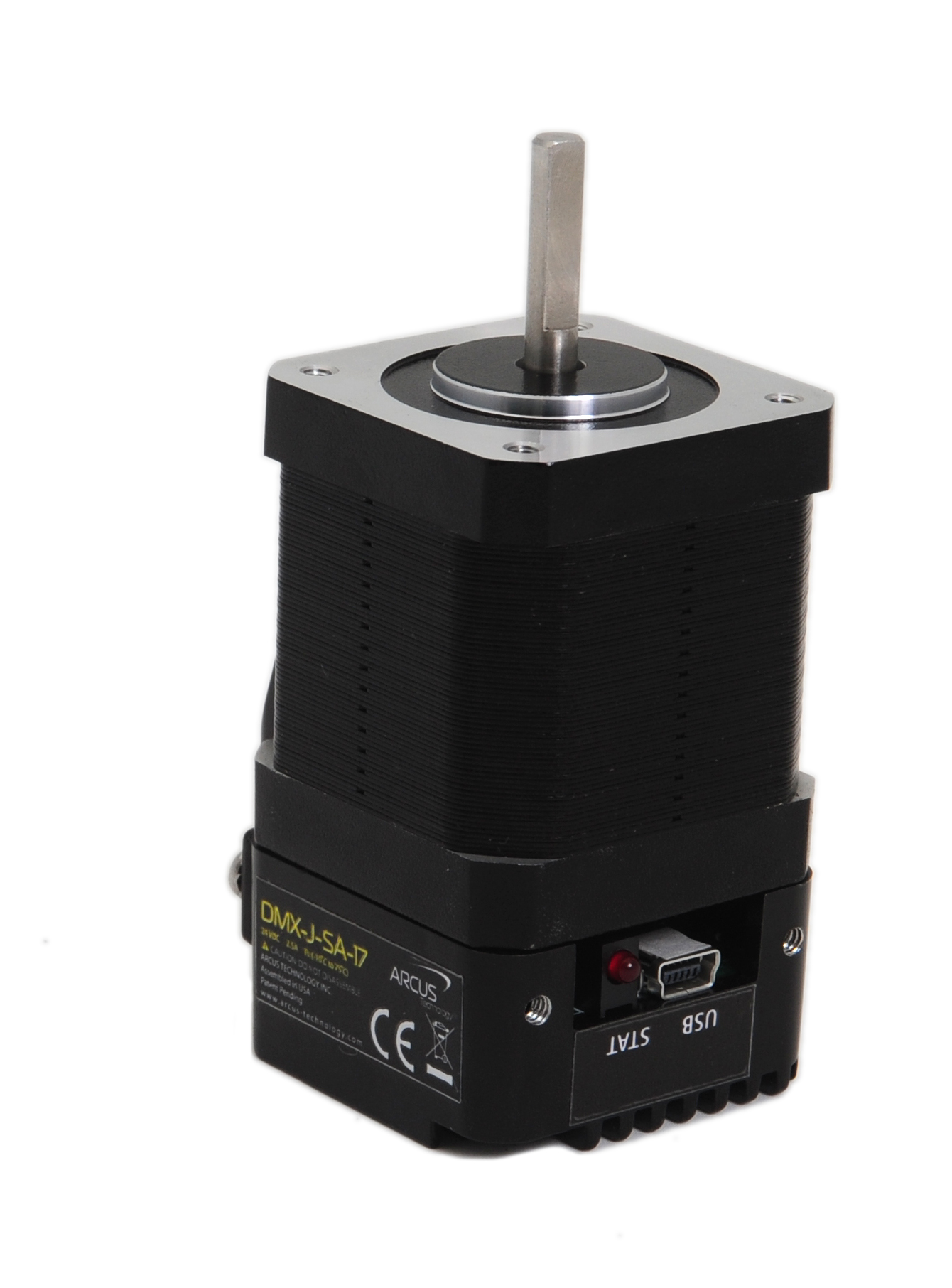 Nema 17 usb stepper motor arcus technology inc for Stepper motor integrated controller
